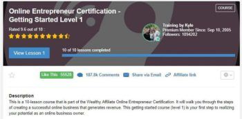 Online Entrepreneur Certification Level 1