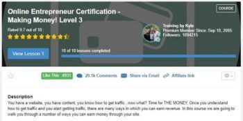 Online Entrepreneur Certification Level 3