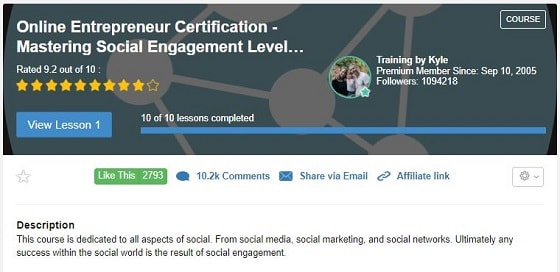 Online Entrepreneur Certification Level 4