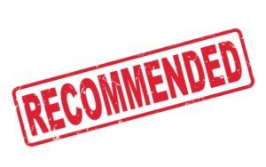 Red Rubber Stamp of the Word Recommended
